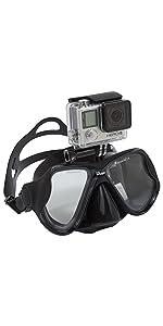 gopro mask; gopro dive mask;dive mask;snorkel mask; spear fishing mask;freediving mask