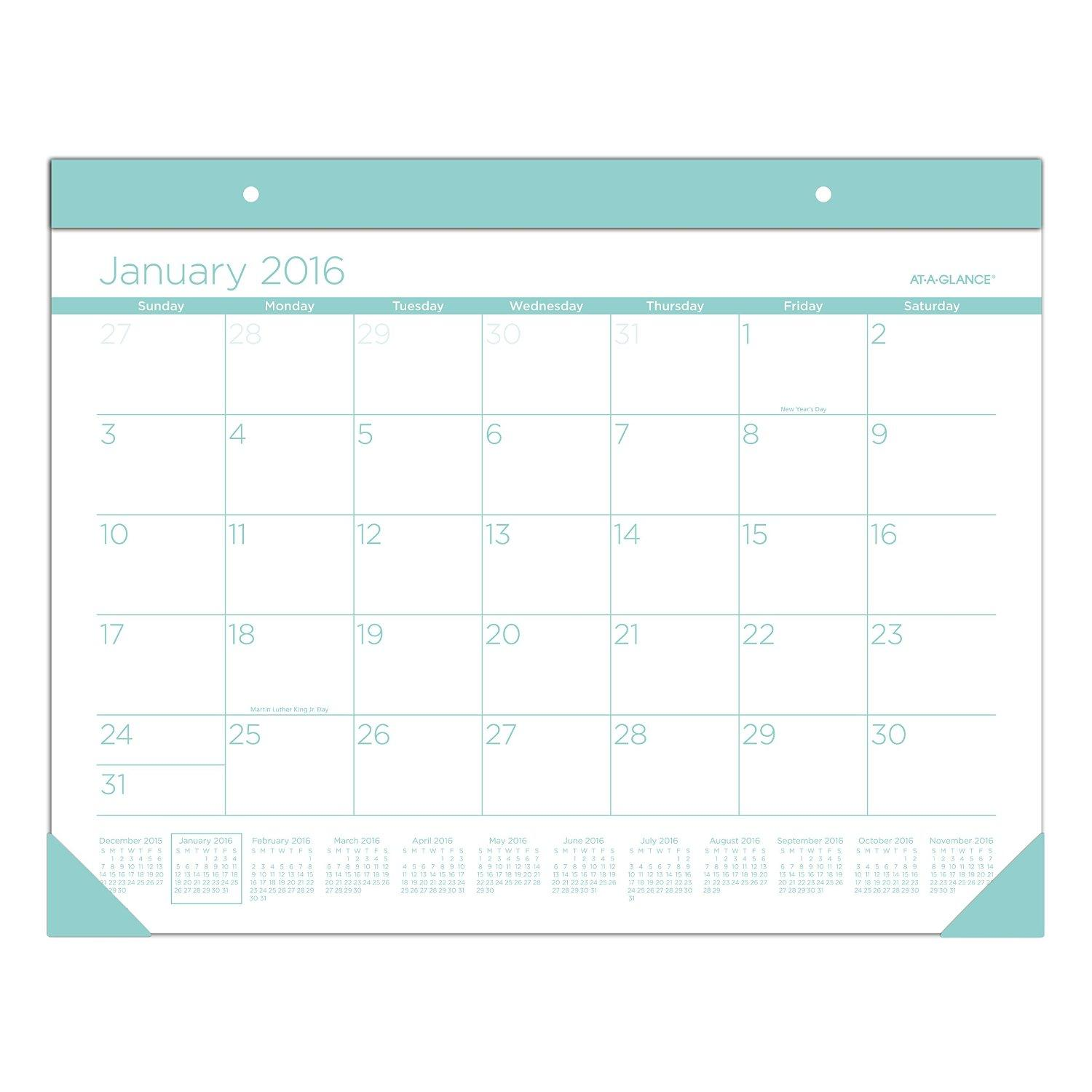 Amazon Com At A Glance Monthly Desk Pad 2016 22 X 17
