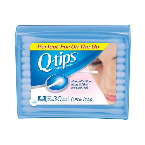 Amazon q tips swabs travel pack 30 each health personal care q tips travel pack cotton swabs purse case makeup application tips soft ccuart Image collections