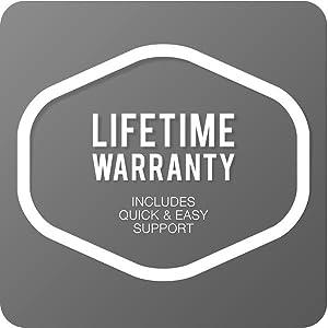 Lifetime; warranty; lifetime warranty; customer service; service; heavy duty; protective