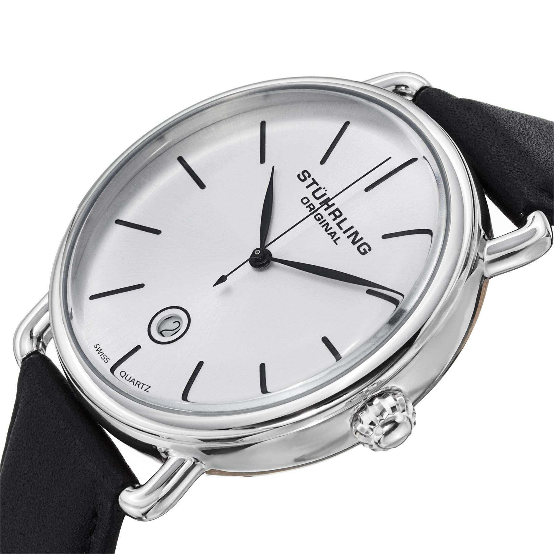 amazon com stuhrling original ascot mens designer watch swiss view larger