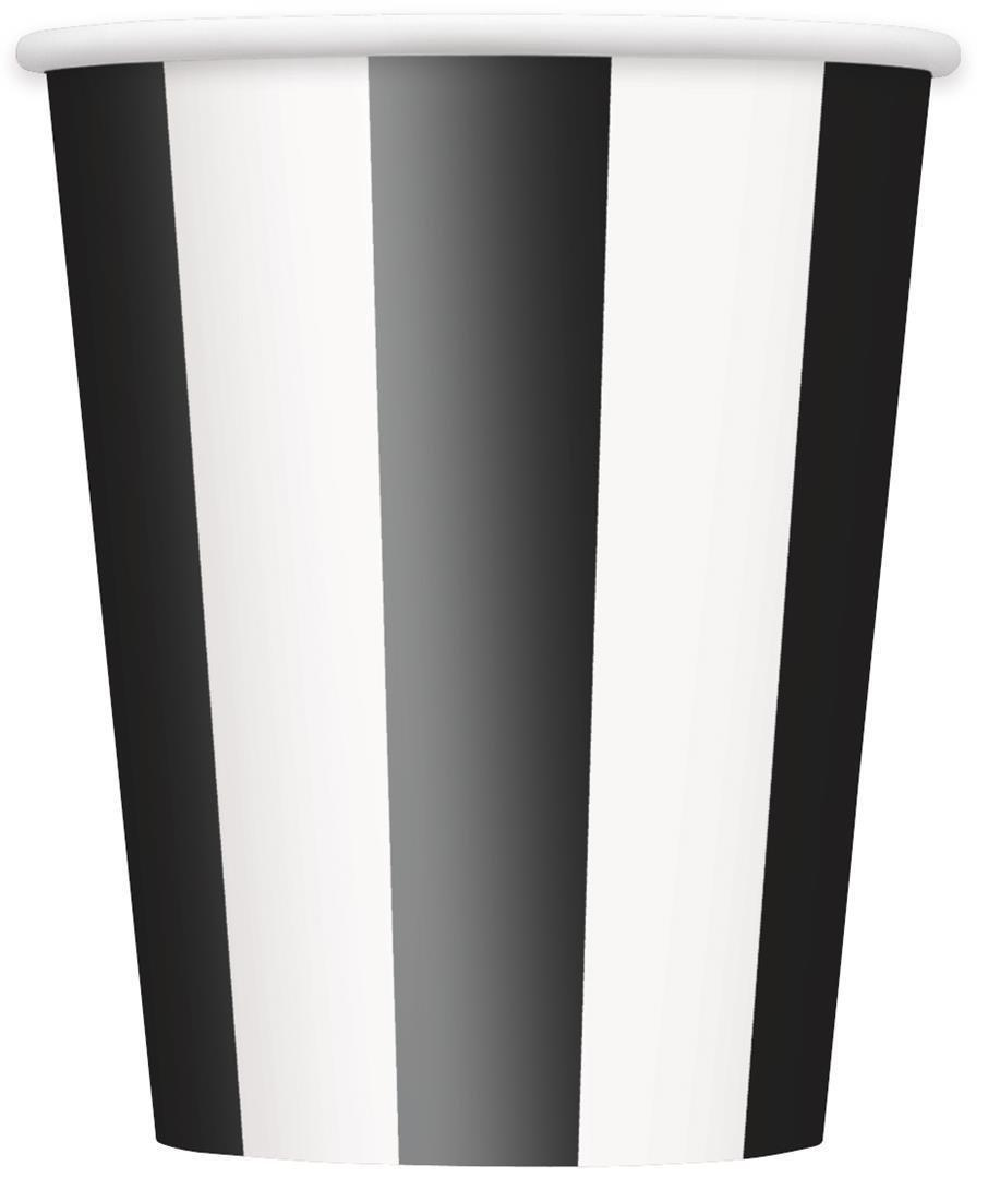 Small Black u0026 White Striped Popcorn Boxes 8ct · Black Striped Dessert Plates 8ct · Black Striped Dinner Plates 8ct · Black Striped Party Napkins 16ct ...  sc 1 st  Amazon.com : black and white striped paper plates - Pezcame.Com