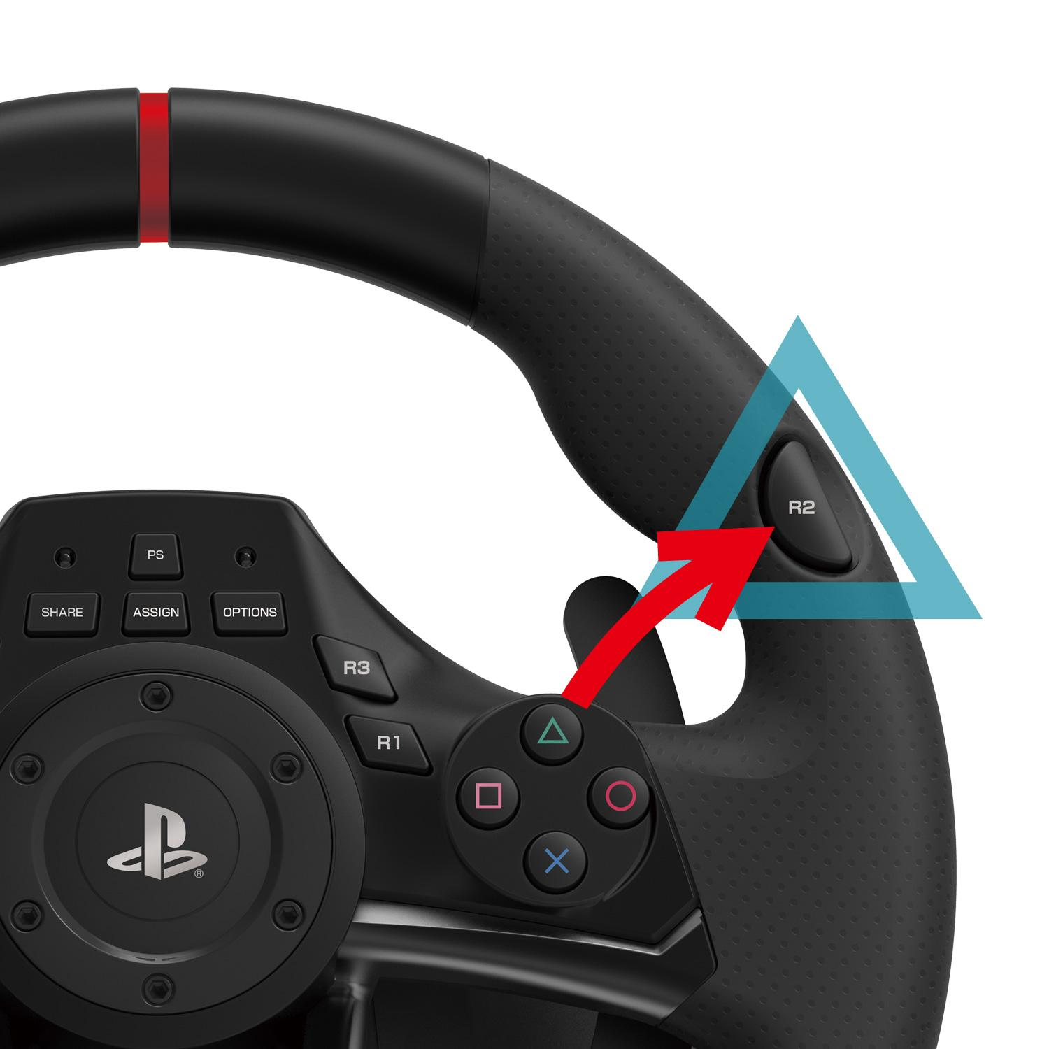 hori racing wheel apex for playstation 4 3. Black Bedroom Furniture Sets. Home Design Ideas