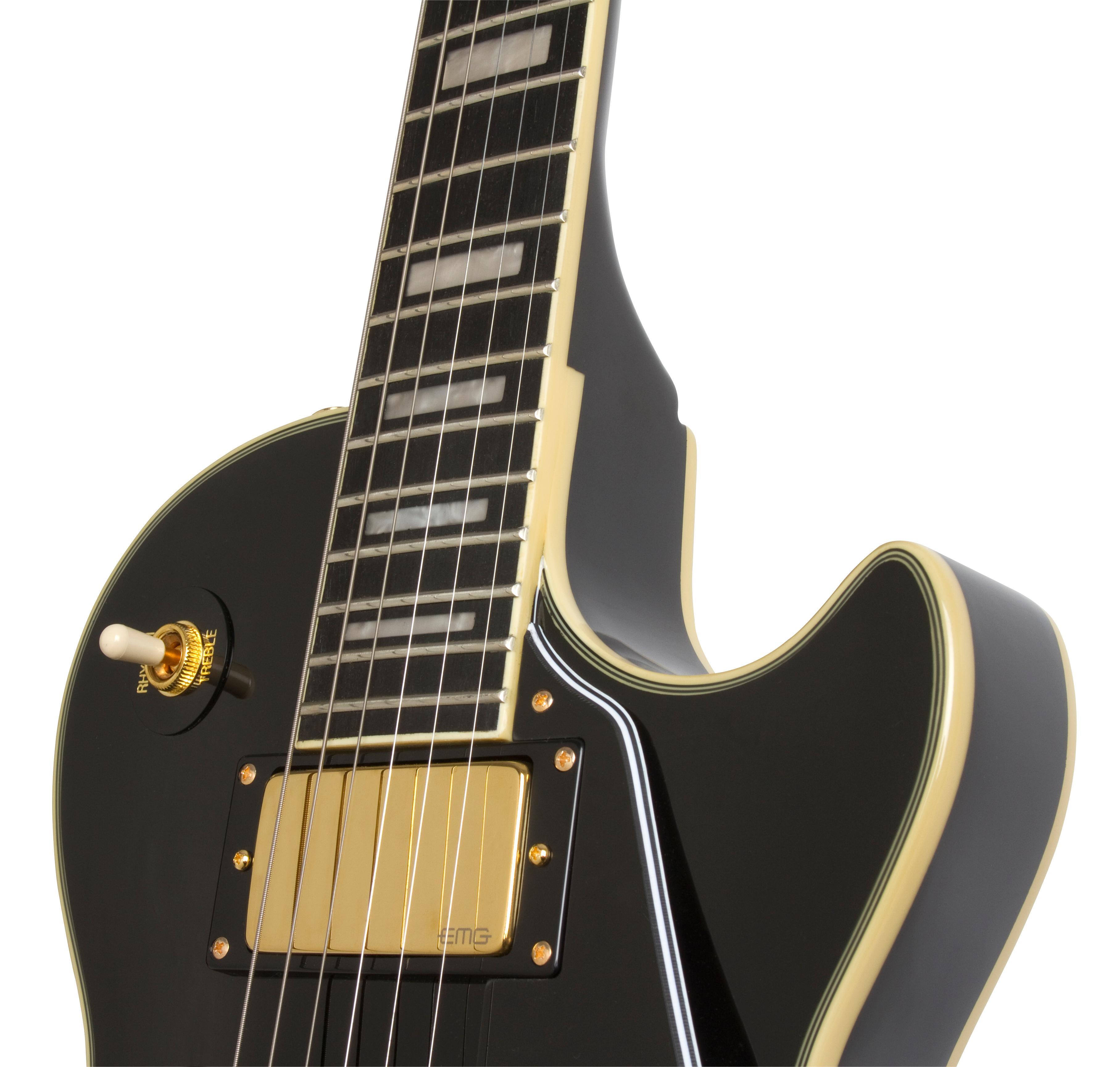 epiphone enbgebgh3 solid body electric guitar ebony