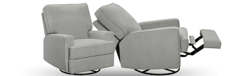 baby relax rylan swivel gliding recliner functions