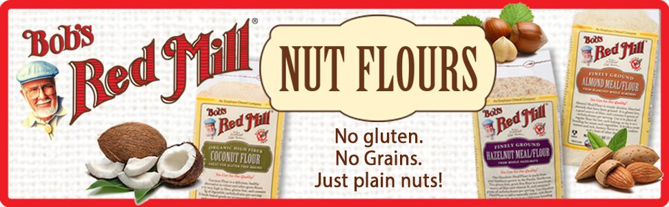 Nut flour, coconut flour, almond flour, hazelnut flour, filbert flour, organic flour, paleo flour