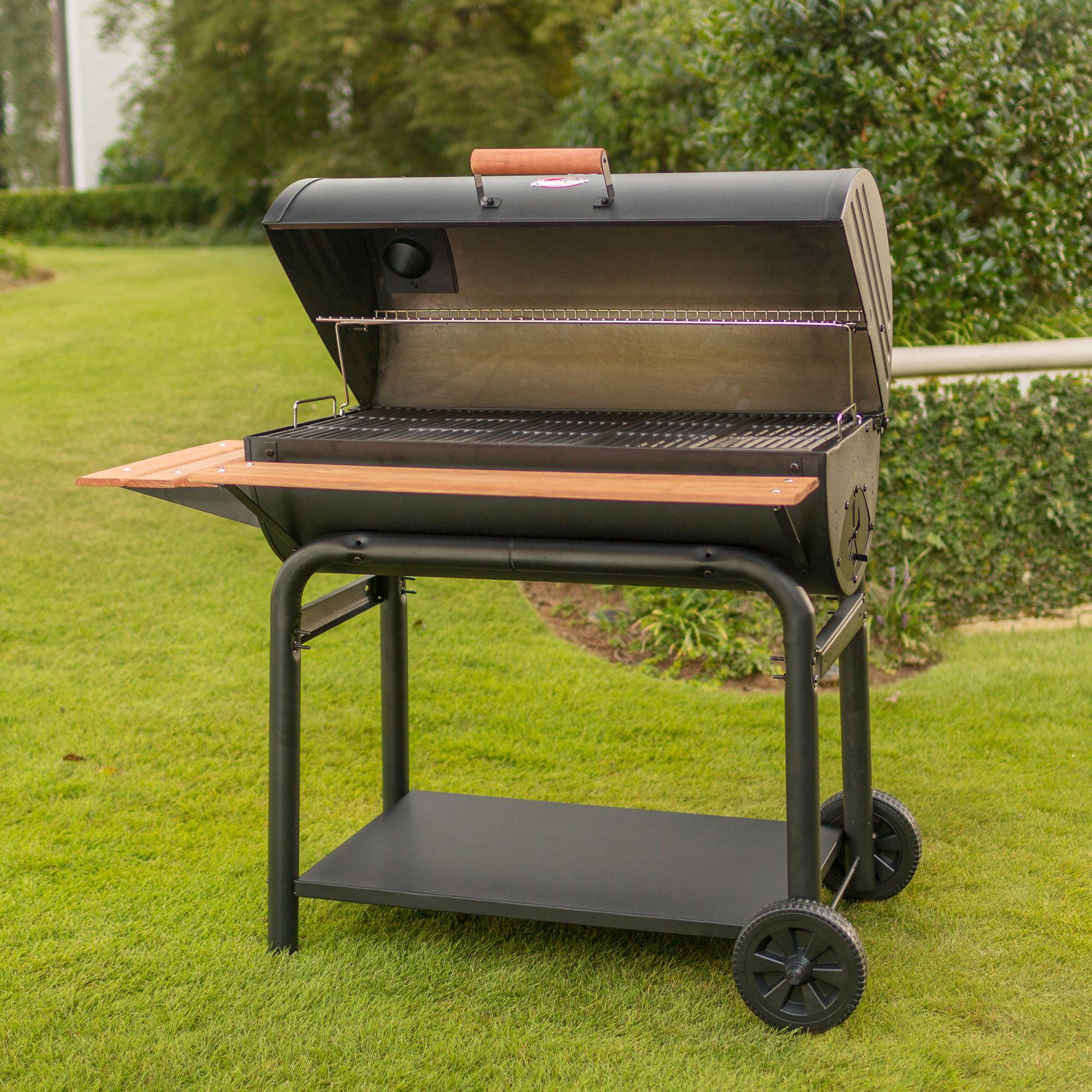 char griller 2137 outlaw 1063 square inch charcoal grill smoker garden outdoor. Black Bedroom Furniture Sets. Home Design Ideas