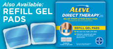 Refill Gel Pad, Aleve TENS, Aleve TENS device