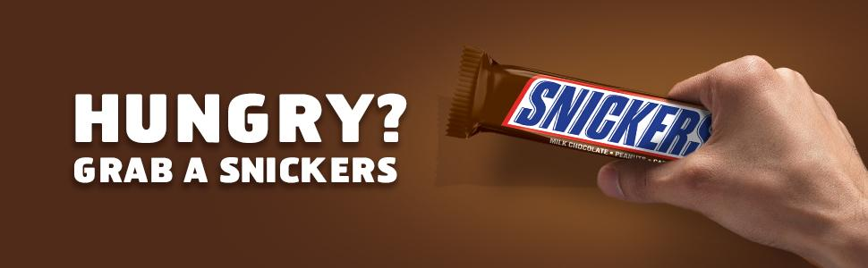Who are you when you're hungry? Grab a chocolate snack, such as a SNICKERS Candy Bar.