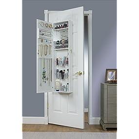 over the door armoire with mirror