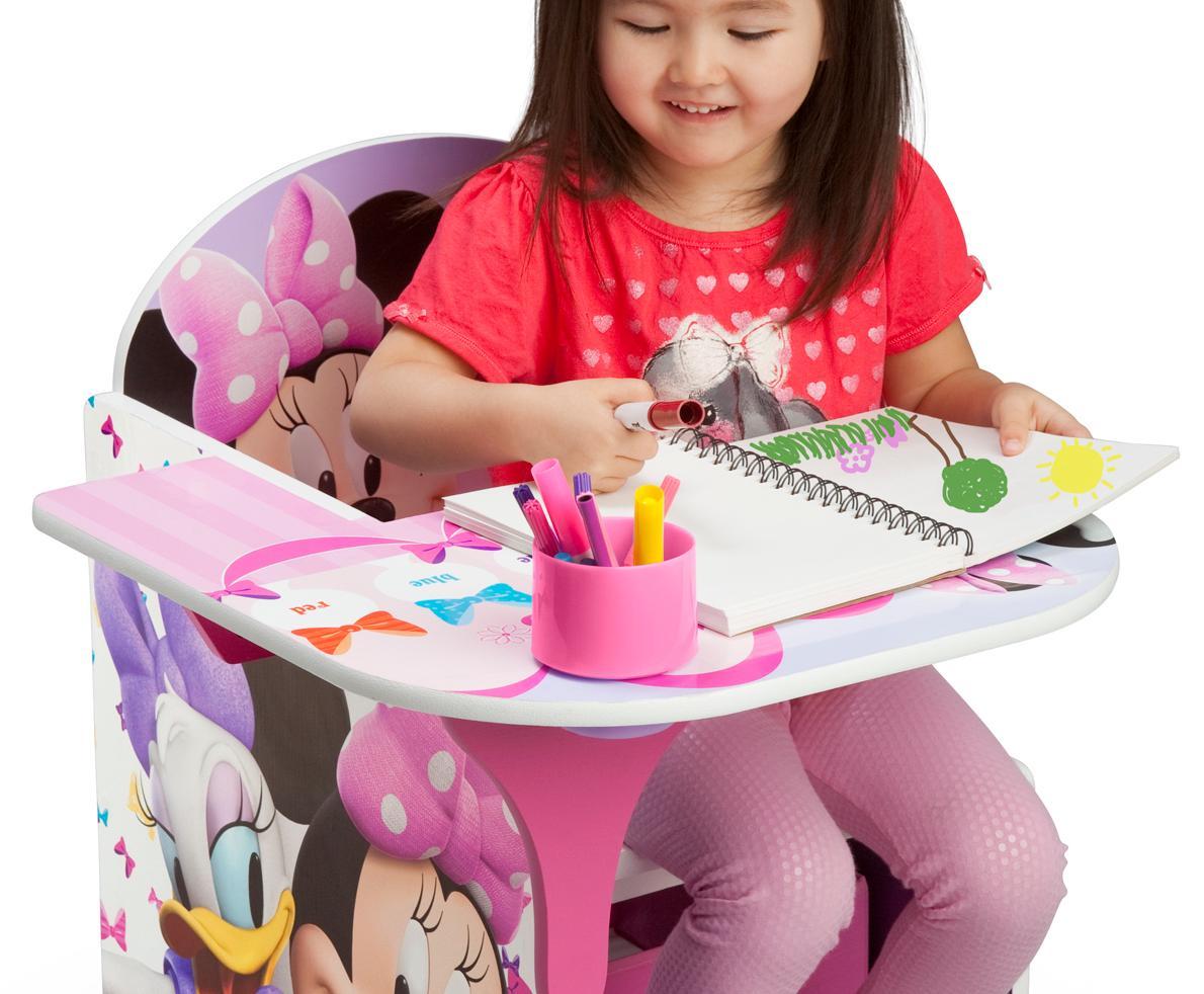 amazon com delta children chair desk with storage bin disney pixar