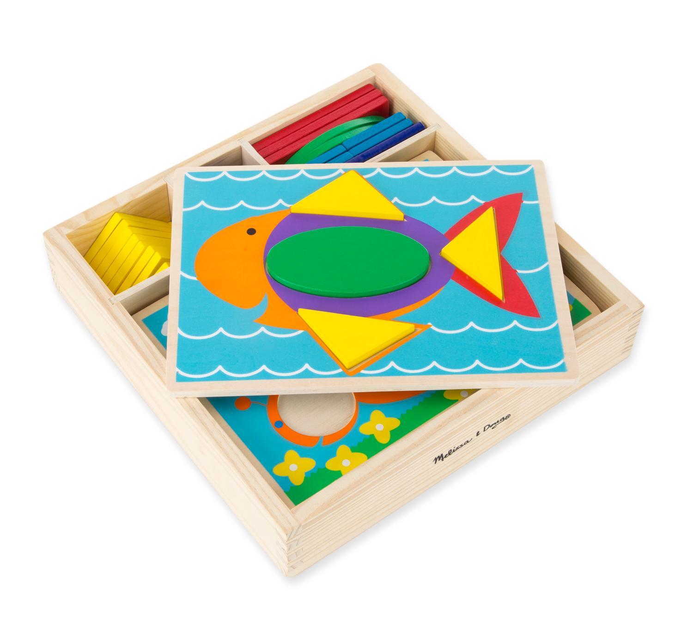 Amazon.com: Melissa & Doug Beginner Wooden Pattern Blocks