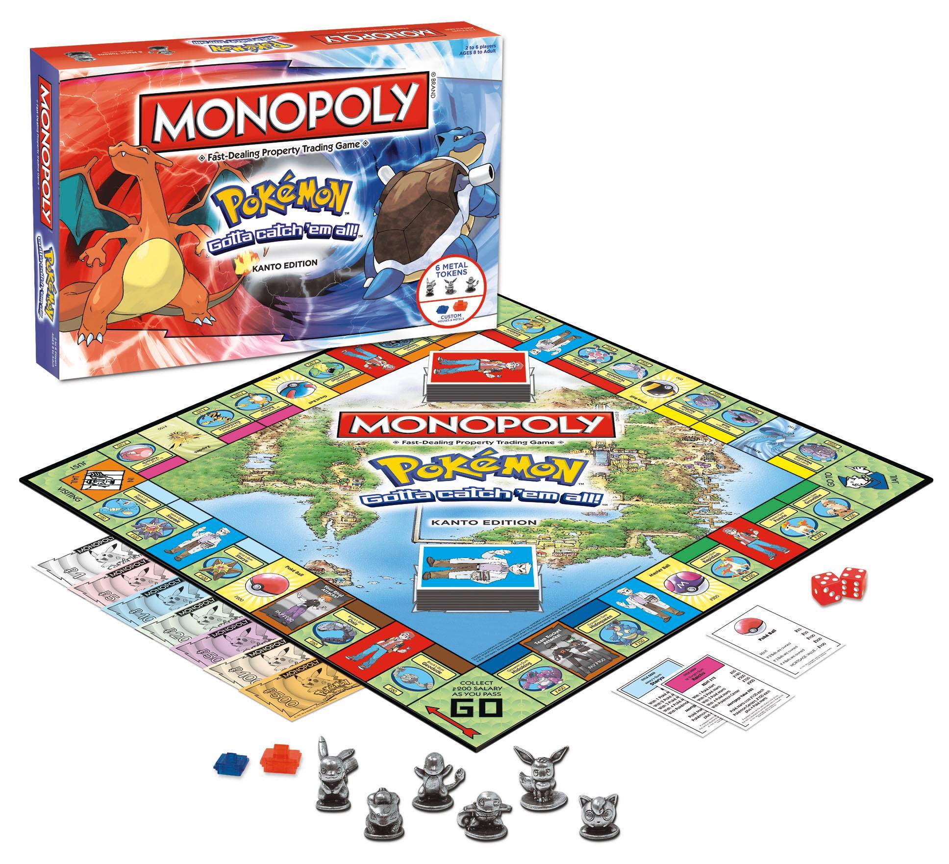 Toys And Games : Amazon monopoly pokemon kanto edition game toys