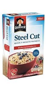 Amazon.com: Quaker Steel Cut Quick 3-Minute Oatmeal