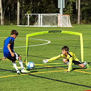 Amazon.com : Franklin Blackhawk Portable Soccer Goal, Small ...