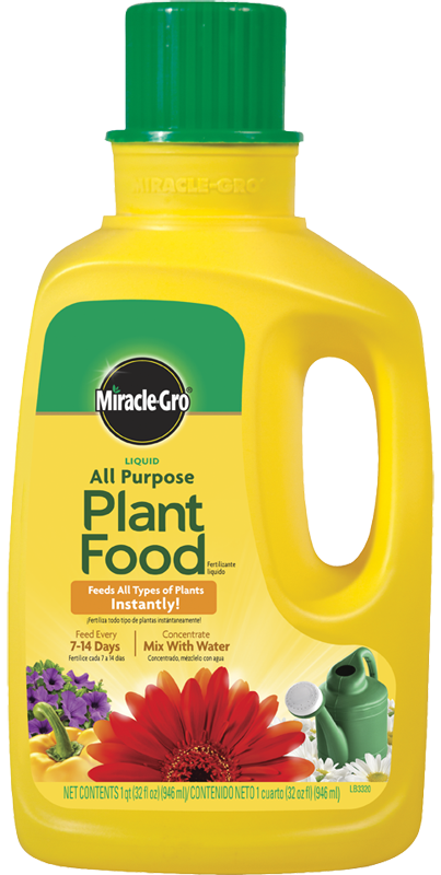 miracle gro all purpose liquid plant food feeds all types of plants