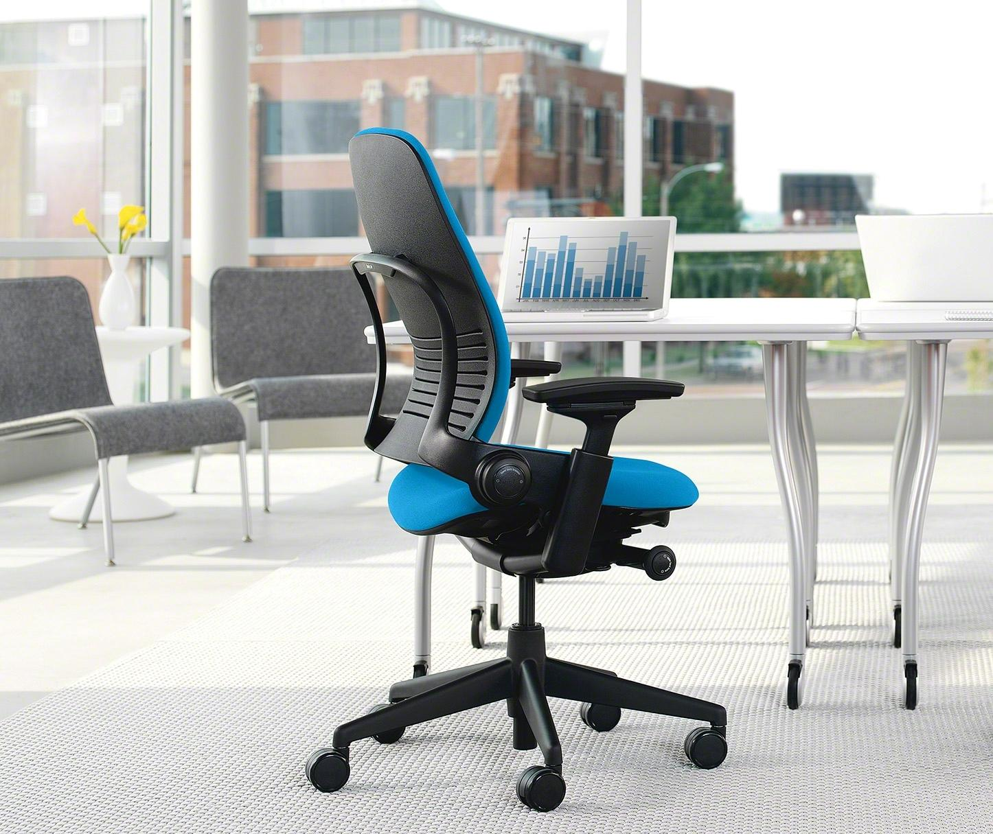 Amazon Com Steelcase Leap Chair Black Fabric Kitchen