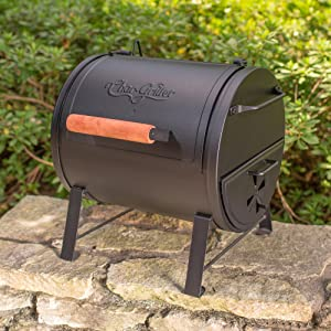 Char Griller Table Top Charcoal Grill And Side Fire Box
