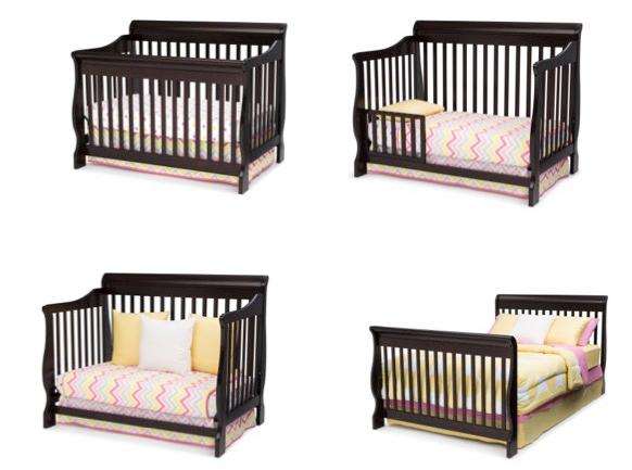 Amazon.com : Delta Children Canton 4-in-1 Convertible Crib ...