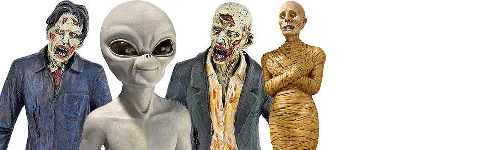 zombies, halloween decor, aliens