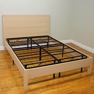 hercules platform heavy duty metal bed framemattress foundation - Wood Frame Bed