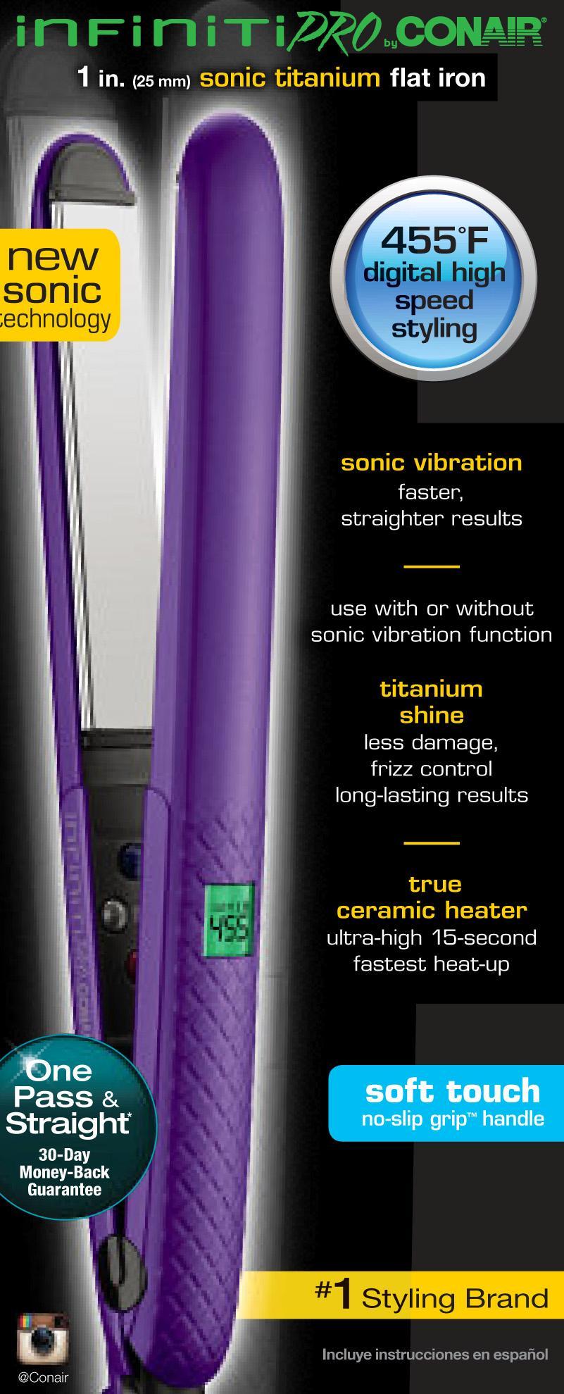Amazon Com Infiniti Pro By Conair Titanium Sonic Vibrating Flat Iron