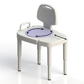 sliding-rotating transfer bench, shower bench with adjustable legs, shower safety, bath safety