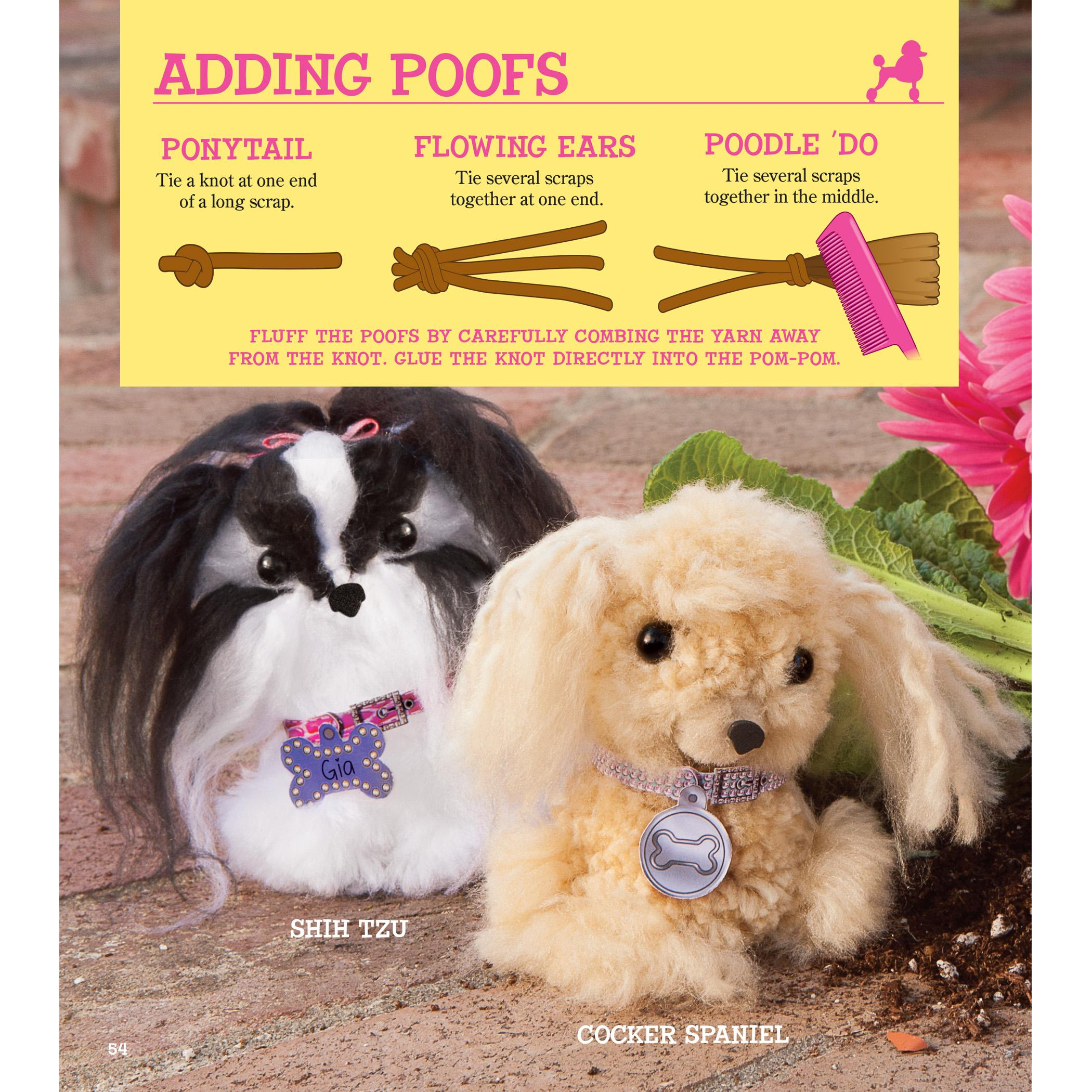 Amazon Com Klutz Pom Pom Puppies Make Your Own Adorable Dogs Craft Kit April Chorba Toys Amp Games