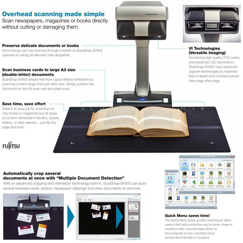 Amazon.com: Fujitsu Image Scanner ScanSnap SV600 (Discontinued by ...
