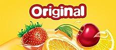 Original Starburst Fruit flavored candy: Orange, Lemon, Strawberry, and Cherry.