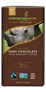 dark chocolate, fair trade, non-gmo, gluten free, kosher