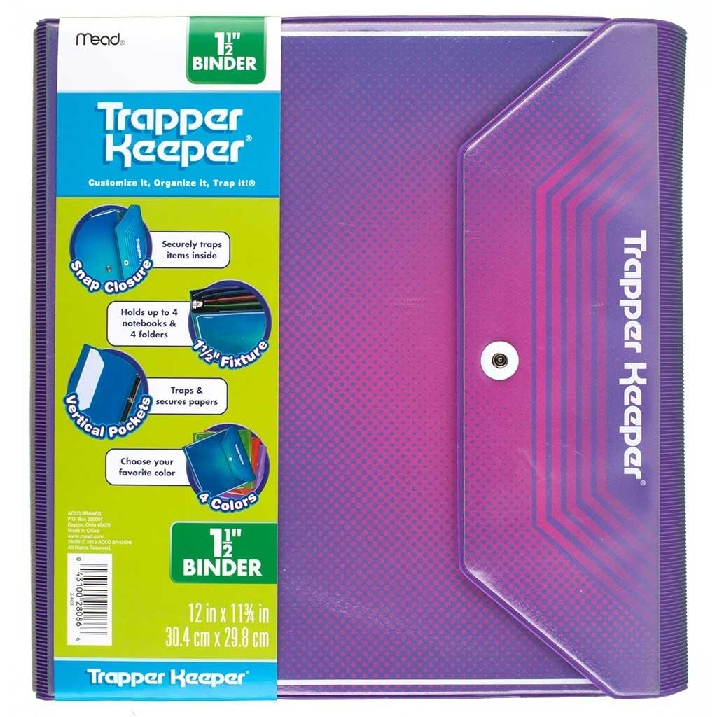 Amazon.com : Mead Trapper Keeper 1.5 Inch Binder, 3 Ring