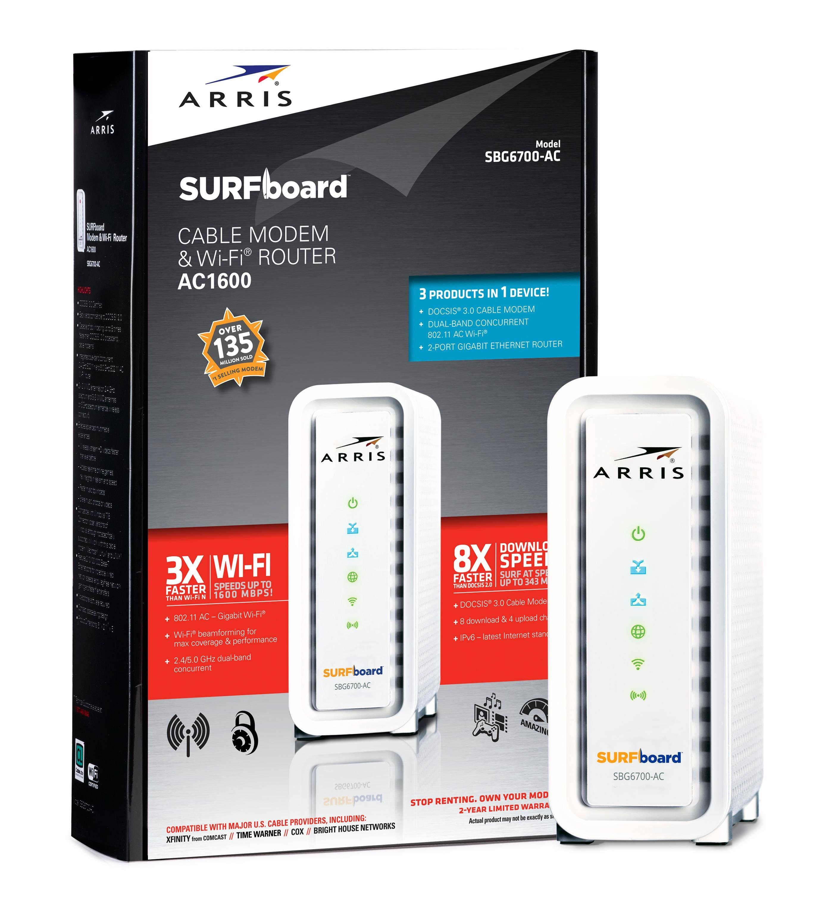 SURFboard AC1900 Dual-Band Router with 16 x 4 DOCSIS 3.0 Cable Modem ... ARRIS