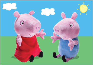 Amazon.com: PEPPA PIG - Peppa and George Giggle n' Wiggle Plush: Toys
