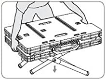 begin collapsing the keter adjustable folding work table