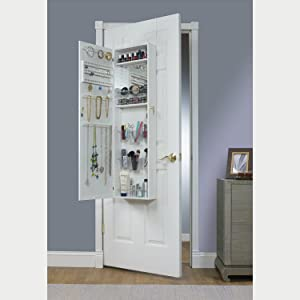 white armoire with mirror for the door