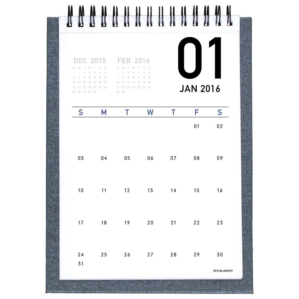 amazon com at a glance monthly desktop easel calendar 2016 5 25 x