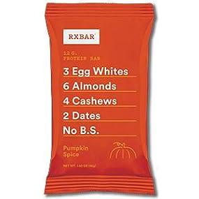 Pumpkin spice, protein bar, rxbar, rxbars, protein bars, health bar, protein