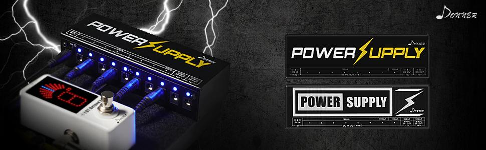 donner guitar pedal power supply