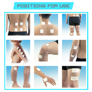 Santamedical Tens Pain Relief Positions Chart