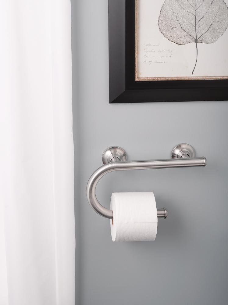 Moen LR48DBN Toilet Paper Holder With Grab Bar Brushed Nickel Fascinating Bathroom Paper