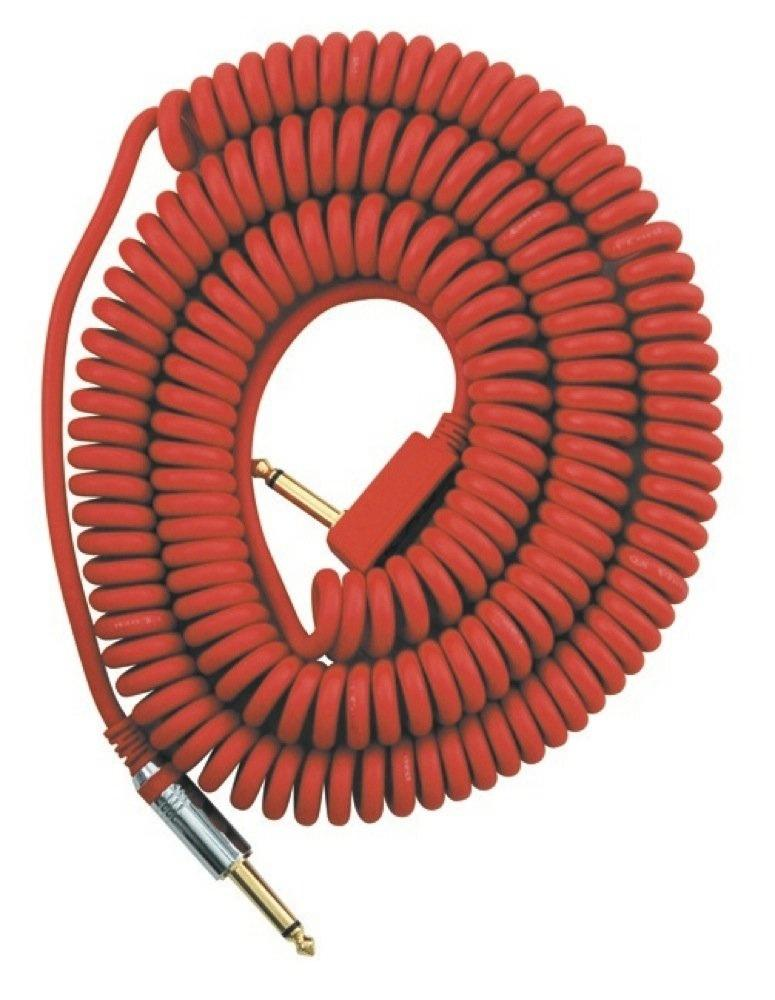 Amazon Com Vox Vcc090 Red Coiled 1 4 Quot Cable With Mesh Bag