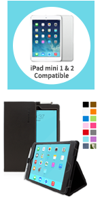 apple ipad Mini and mini 2 smart case leather