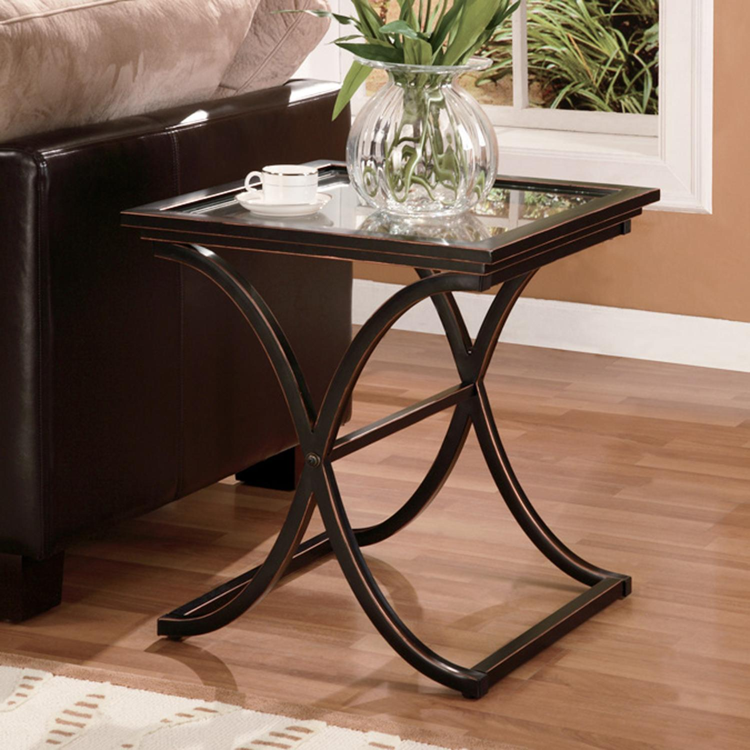 Amazon Southern Enterprises Vogue Side End Table Black With