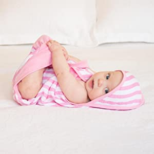 Muslin Baby Bath Swaddle made from Organic Cotton