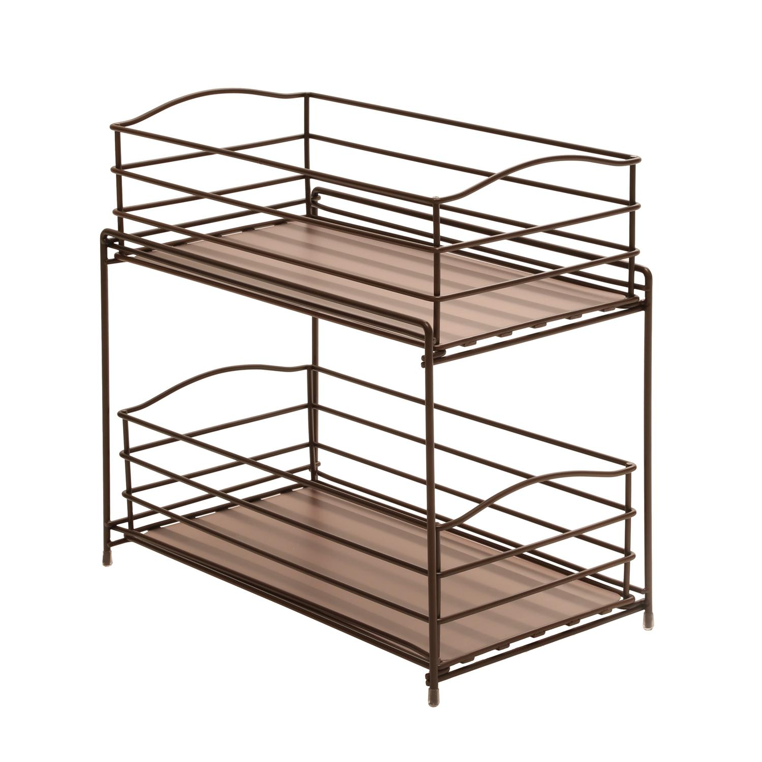 Uncategorized Sliding Basket Organizer amazon com seville classics 2 tier sliding basket kitchen from the manufacturer