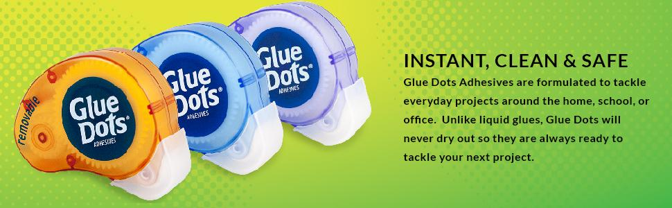 glue, dots, elmers, command, strips, adhesive, office, diy, craft, poster, removable, permanent,