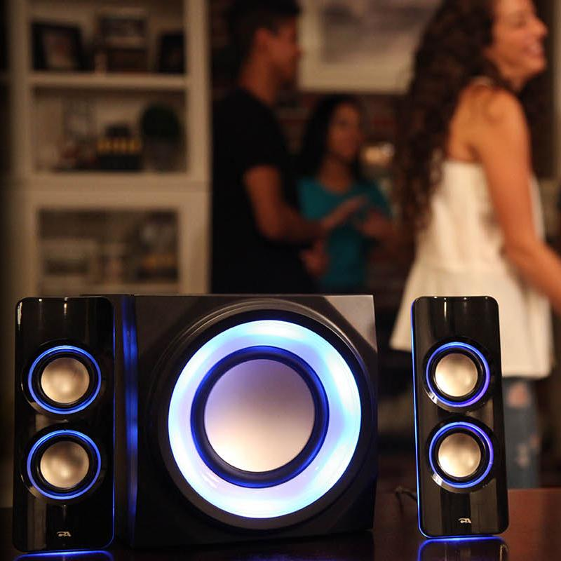 Amazon Com Cyber Acoustics Bluetooth Color Changing