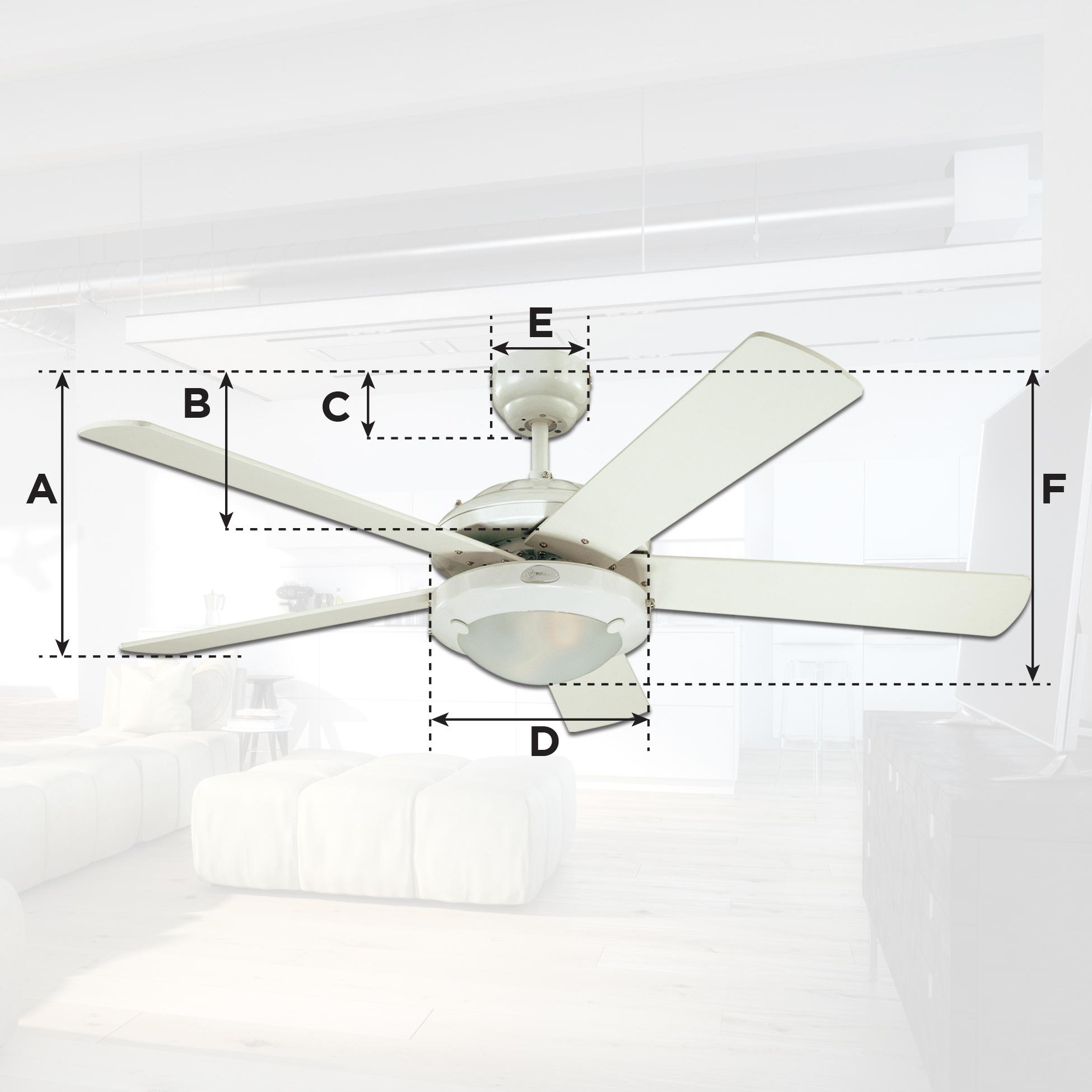 Harmony 48 Inch Brushed Nickel Indoor Ceiling Fan Light