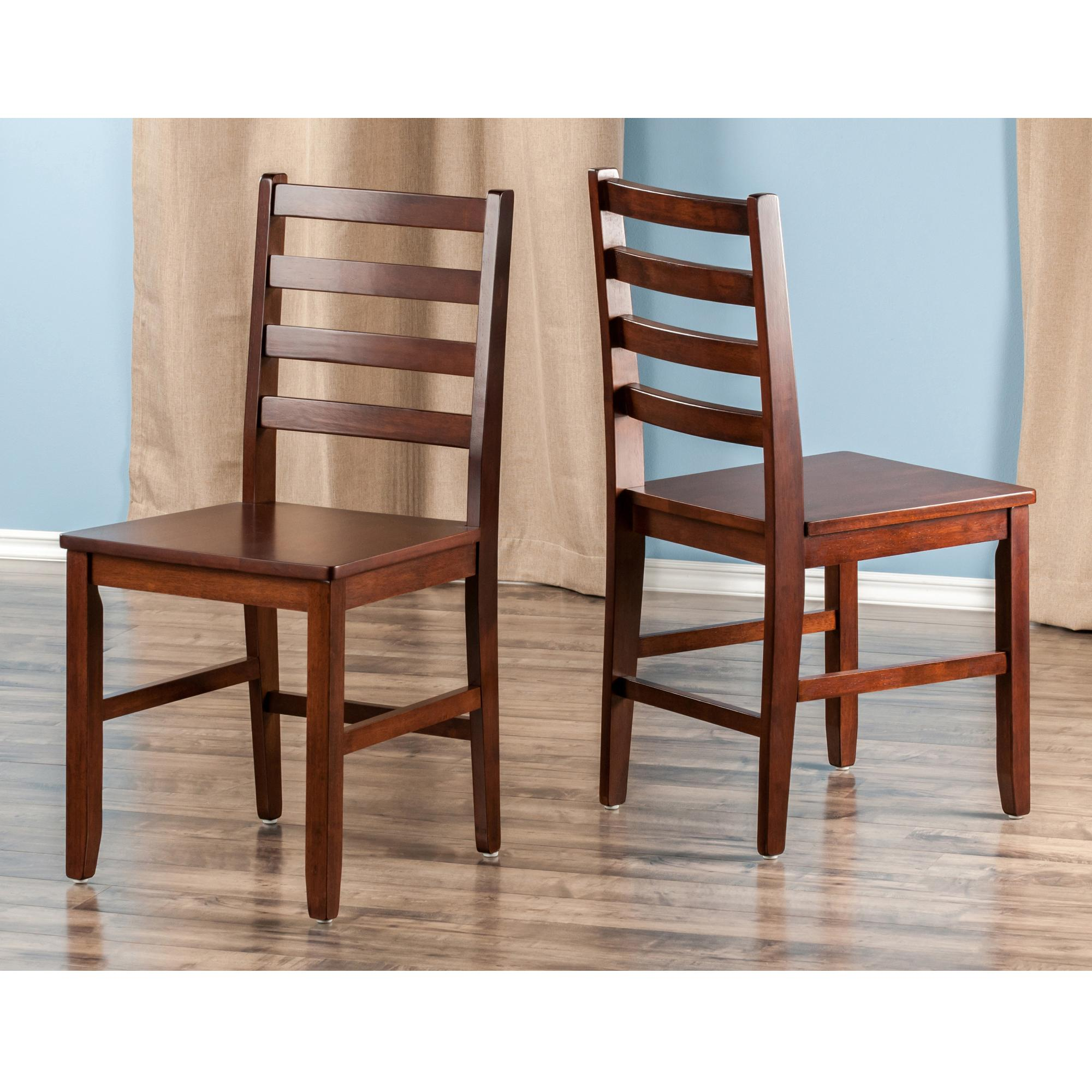 Amazon Winsome Wood Hamilton 2 Piece Ladder Back Chair Chairs